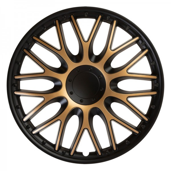 J-Tec 4-Delige Wieldoppenset Orden 15-inch zwart/goud