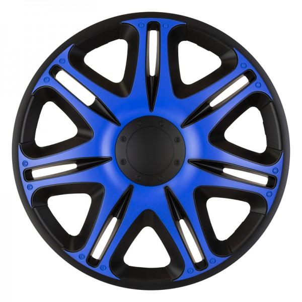 J-Tec 4-Delige Wieldoppenset Nascar 16-inch zwart/blauw