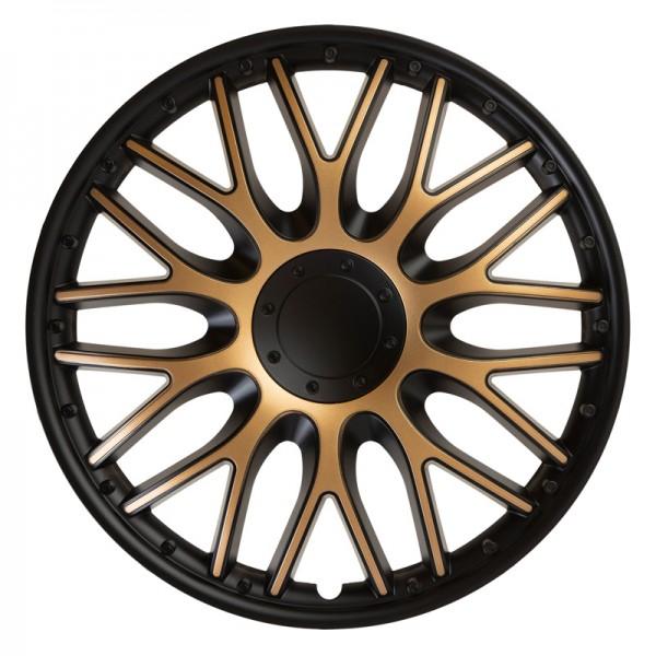 J-Tec 4-Delige Wieldoppenset Orden 16-inch zwart/goud