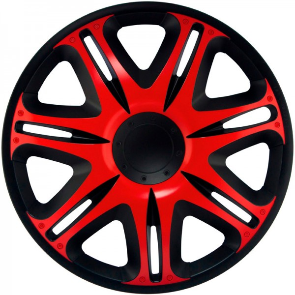 J-Tec 4-Delige Wieldoppenset Nascar 13-inch zwart/rood
