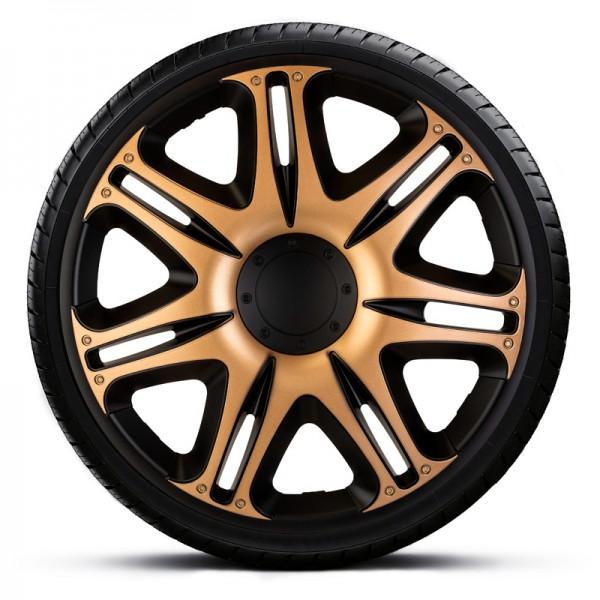 J-Tec 4-Delige Wieldoppenset Nascar 15-inch zwart/goud