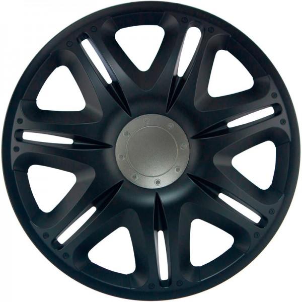 J-Tec 4-Delige Wieldoppenset Nascar 14-inch zwart