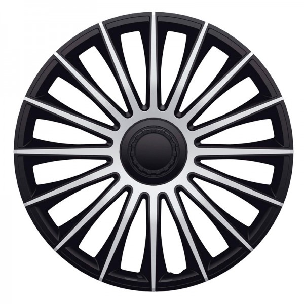 J-Tec 4-Delige Wieldoppenset Austin 15-inch zilver/zwart