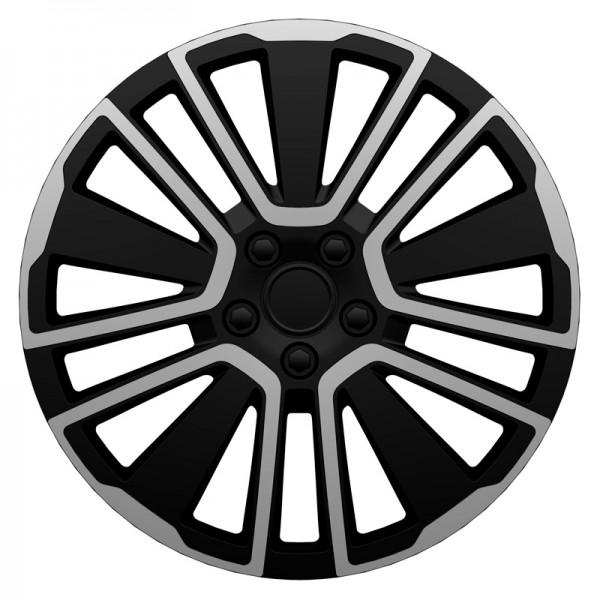 J-Tec 4-Delige Wieldoppenset Scuba 15-inch zilver/zwart