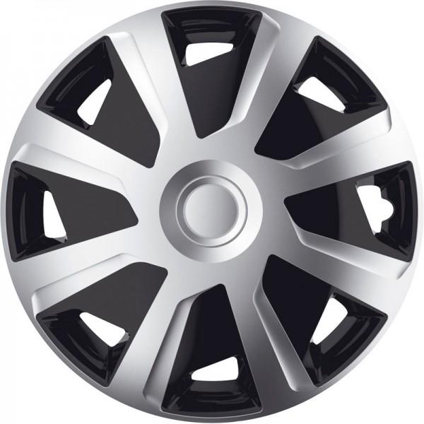 J-Tec 4-Delige Wieldoppenset Mistral Van 15-inch zilver/zwart (bol)