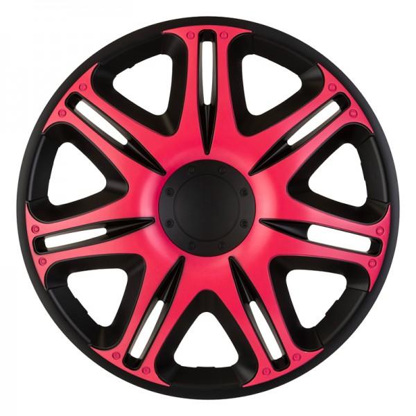J-Tec 4-Delige Wieldoppenset Nascar 16-inch zwart/roze