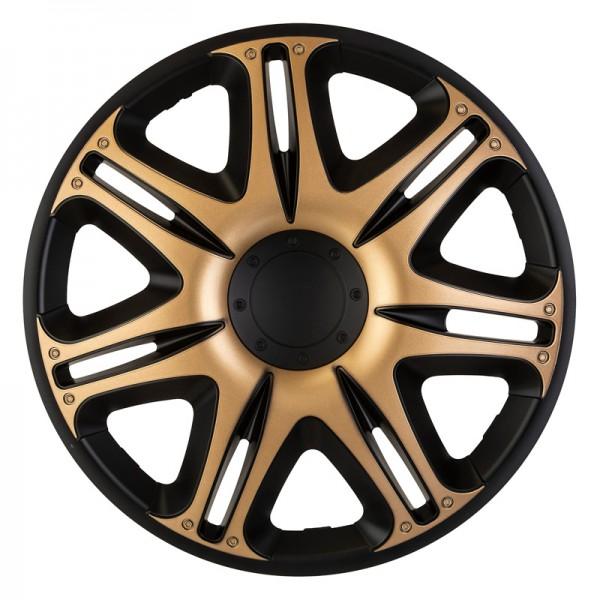 J-Tec 4-Delige Wieldoppenset Nascar 16-inch zwart/goud