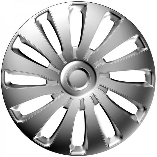 J-Tec 4-Delige Wieldoppenset Sepang 17-inch zilver
